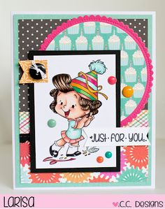 Hello!  It's Preview Day #3 and I'm here to share an adorable new stamp from Roberto's Rascals!  This is Dancing!  Isn't she just the...