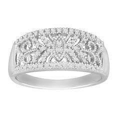 1/5 ct Diamond Filigree Band Ring
