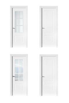 Puerta de Interior Blanca | Modelo Millet RTL/SIN RTL de la Serie Lacada de Puertas Castalla. Puerta Lacada blanca