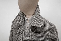 Ash-grey and charcoal wool-tweed peacoat. Work Jackets, Nice Clothes, Double Breasted Coat, Ash Grey, Must Haves, Tweed, Charcoal, Cool Outfits, Blazer