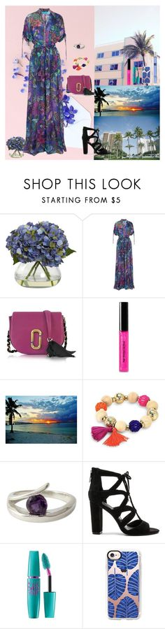 """Florida Paradise🌊"" by oksana-kolesnyk ❤ liked on Polyvore featuring Nearly Natural, Matthew Williamson, Marc Jacobs, Bobbi Brown Cosmetics, Robert Rose, NOVICA, BCBGeneration, Maybelline, Casetify and Thierry Mugler"