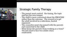 Jay Haley, MRI, Madanes - Strategic Family Therapy (Linking,