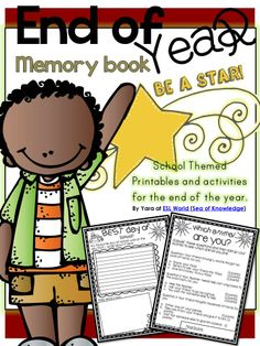 This pack is full of school fun end of year activities and printables for students in grades K-3. The activities are designed to be printed off and completed as a class, group or individually. It's a great way to cap off the year! :) $