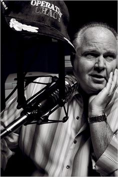 Rush--he learned from the conservative movement leader William F. Buckly, Jr.