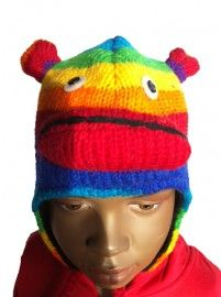 Monkey Rainbow | Sale / Uitverkoop | Mingface Monkey Rainbow Hat from Nepal 100% wool with a soft polyster lining
