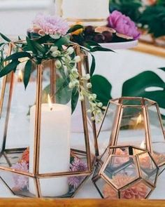 Glass geometric terrarium / wedding table decoration / succulent planter / aerial glass vase / terrarium kit / terrarium gift / terrarium centerpiece - Home Page Fall Wedding, Diy Wedding, Rustic Wedding, Dream Wedding, Wedding Trends, Trendy Wedding, Elegant Wedding, Copper Wedding Decor, Wedding Ceremony