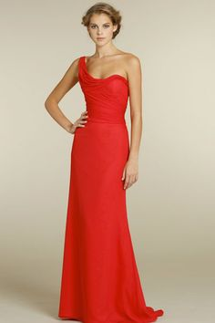This Jim Hjelm bridesmaid gown is even MORE gorgeous in person. #hungergames #wedding