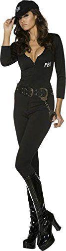 Smiffys Womens Fbi Flirt Bodysuit Black Medium -- For more information, visit image link.