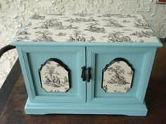 Vintage Upcycled Hand Painted Aqua And by ColorfulHomeDesigns, $49.00