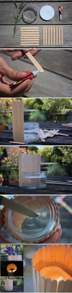 Tuto DIY: Faire un bougeoir avec des bâtonnets en bois