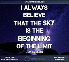 The Sky is the Beginning of the Limit | BrainSharp Supplements