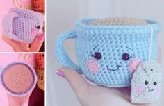 Teacup Pincushion Crochet Pattern Video