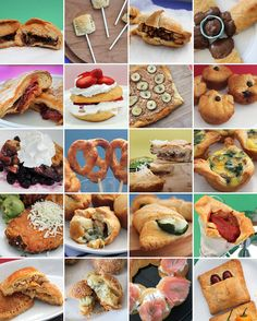 20 Creative Ways to Cook with Crescent Rolls - Omg I'm so hungry now... Must try them all!