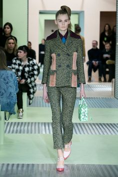 A look from the Prada Fall 2015 RTW collection.