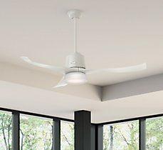 Hunter Fan Symphony 3 Blade LED Ceiling Fan with Remote, Light Kit Included Kit Homes, Led Ceiling Fan, Ceiling Lights, Modern, Ceiling, Kitchen Lighting, Pendant Light, Wayfair, Light