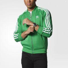 Adidas + originali + adicolor + + + in + traccia giacca verde + b10665 dopo
