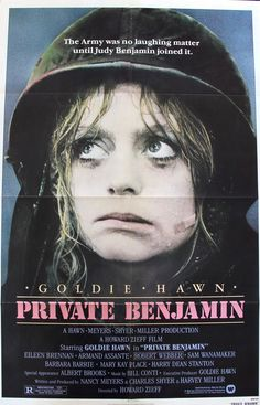 """Private Benjamin (1980) Vintage One Sheet Movie Poster - 27""""x41""""  This is a vintage, one-sheet movie poster from 1980 for Private Benjamin starring Goldie Hawn, Eileen Brennan, Armand Assante, Harry Dean Stanton and Albert Brooks.  Howard Zieff directed the comedy film.  The 36-year-old, folded one-sheet poster measures 27""""x41"""" and is in very good to excellent condition with little to no edge wear.  Free US Shipping!"""