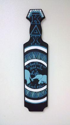 Kappa Delta Chi Elephant paddle by Melissa's Custom Gifts! Kappa Delta Chi, Alpha Phi Omega, Pi Beta Phi, Chi Omega, Alpha Chi, Phi Mu, Sigma Tau, Tri Delta, Fraternity Paddles