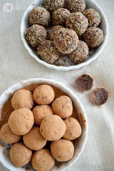 Trufas de chocolate con queso crema www.pizcadesabor.com