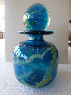 Mdina Glass Bottle Flask - Foxhouse Fine Art | Selected Works of Art, Ceramics & Glass, Jewellery & Pictures