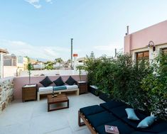 Boutique hotel in the heart of Old City of Chania where we installed our Antique Mycenae floor. Mycenae, Outdoor Furniture Sets, Outdoor Decor, Old City, In The Heart, Amazing Architecture, Marathon, Floors, Technology