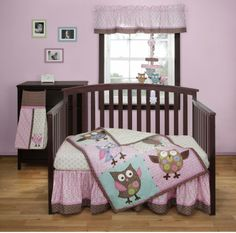 Bananafish Calico Owls 3 pc Crib Set - Best Price