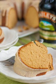 AMAZING Bailey's Irish Cream Pound Cake! With Bailey's icing too : ) I almost ate the whole thing by myself!