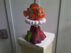 Disney Finding Nemo Water Sprinkler Clown Fish Lawn Yard Shoots Up And OutWards #Disney