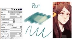 Paint Tool Sai brushes (do you have the brush/pen settings you used for...)