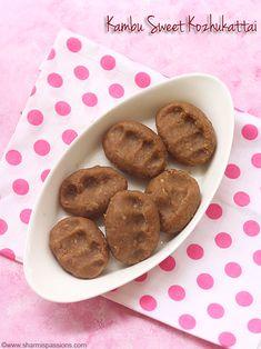 kambu maavu sweet kozhukattai recipe with step by step pictures.how to make kambu sweet kozhukattai. Millet Flour, Millet Recipes, Cardamom Powder, Flour Recipes, Roast, Navratri Special, Coconut, Things To Come