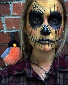 This pretty AF scarecrow. | Pretty makeup, Scarecrows and Makeup