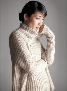 Love over-sized sweaters.....and that this is Eileen Fisher doesn't hurt, either.
