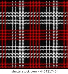 Find Knitted Plaid Tartan Pattern Red Black stock images in HD and millions of other royalty-free stock photos, illustrations and vectors in the Shutterstock collection. Knitting Charts, Knitting Stitches, Knitting Designs, Knitting Patterns Free, Knit Patterns, Motif Tartan, Tartan Pattern, Tartan Plaid, Plaid Crochet