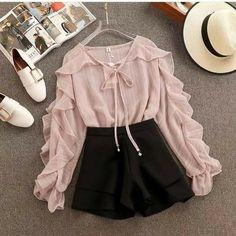 Cute Skirt Outfits, Really Cute Outfits, Cute Casual Outfits, Pretty Outfits, Stylish Outfits, Stylish Dresses, Summer Outfits, Korean Girl Fashion, Cute Fashion