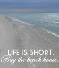 Beach Art Photograph Print Life is Short Buy the Beach House Quote Art Beach House Decor Ocean photograph Seaside decor ModernBeach Beach Condo, Beach House Decor, Lac Champlain, Theoule Sur Mer, Living In London, Image Citation, Playa Beach, Dream Beach Houses, I Love The Beach