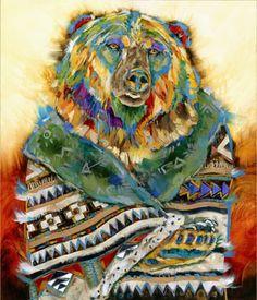 Bear Shaman 3, Carol Hagan, Montana Artist