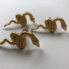 10 x Gold SNAKE Metal KNOBS Handle Kitchen Cupboard Home   Etsy