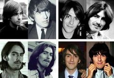 George Harrison and Dhani Harrison collage they look so much alike because George's face was too good for just one generation