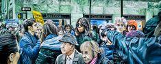 """NEW YORK By Socrates Rizquez 2019 - Enamels on aluminium painting. 120 x 48 cm. Thanks to my eyes in NYC Tom Piorkowski. Original Paintings, Original Art, Socrates, Photorealism, Enamel Paint, Ecology, Impressionism, Buy Art, Saatchi Art"