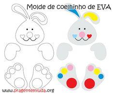 Bunnies e cioccolatini realizzati con EVA   Pra Gente Miuda