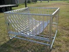 Round Hay Feeder for Goats | ... newest items is the big bale feeder this hay feeder holds your bale