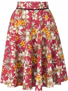 Vintage Rock, Rockabilly Vintage, Pin Up, Swing Skirt, Floral, Skirts, Fashion, Cherry, Nice Asses