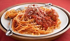 Moms Spaghetti and Meatballs - Stefano reveals his Moms secret recipe and the trick for tender, juicy meatballs every time. recipes-by-stefano-faita Meatball Recipes, Crockpot Recipes, Cooking Recipes, Meatball Subs, Pasta Recipes, Dinner Recipes, Great Recipes, Favorite Recipes, Spaghetti And Meatballs