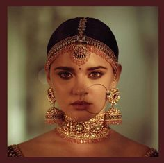 Items similar to Sabyasachi inspired Necklace (Aadh) , Jhumki style oversized earrings & Mathapatti on Etsy