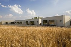 Just beyond the arid desert of the Bardenas Reales in northern Spain, you will a scattering of minimalist buildings that make up Hotel Aire De Bardenas.
