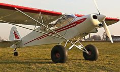 Photo of the Zlin Cub-S aircraft, ready to fly