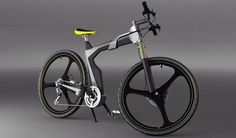 Artless e-bike concept with pedal assistance, almost 70-percent of its total mass is composed of ceramic aluminum matrix.