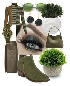 """""""Greens"""" by mdfletch ❤ liked on Polyvore featuring Ray-Ban, Maison Margiela, Jason Wu, Aerosoles, Michele, Lana, Coach and greens"""