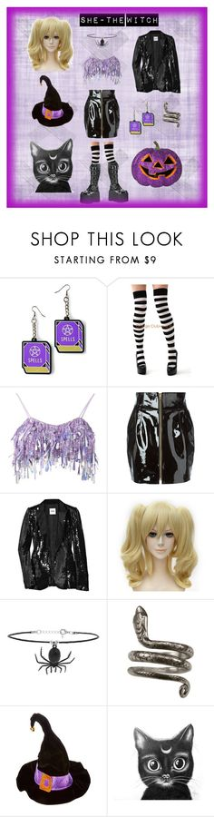 """""""She-the witch"""" by toxicjooker666 on Polyvore featuring moda, Witch Worldwide, Leg Avenue, Ashish, Alexandre Vauthier, Moschino Cheap & Chic, Demonia i Topshop"""