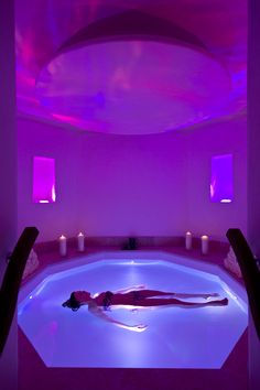 Floatation Room au Spa Six Senses à l'hôtel The Alpina Gstaad http://www.thealpinagstaad.ch/fr/Bienvenue-a-The-Alpina-Gstaad
